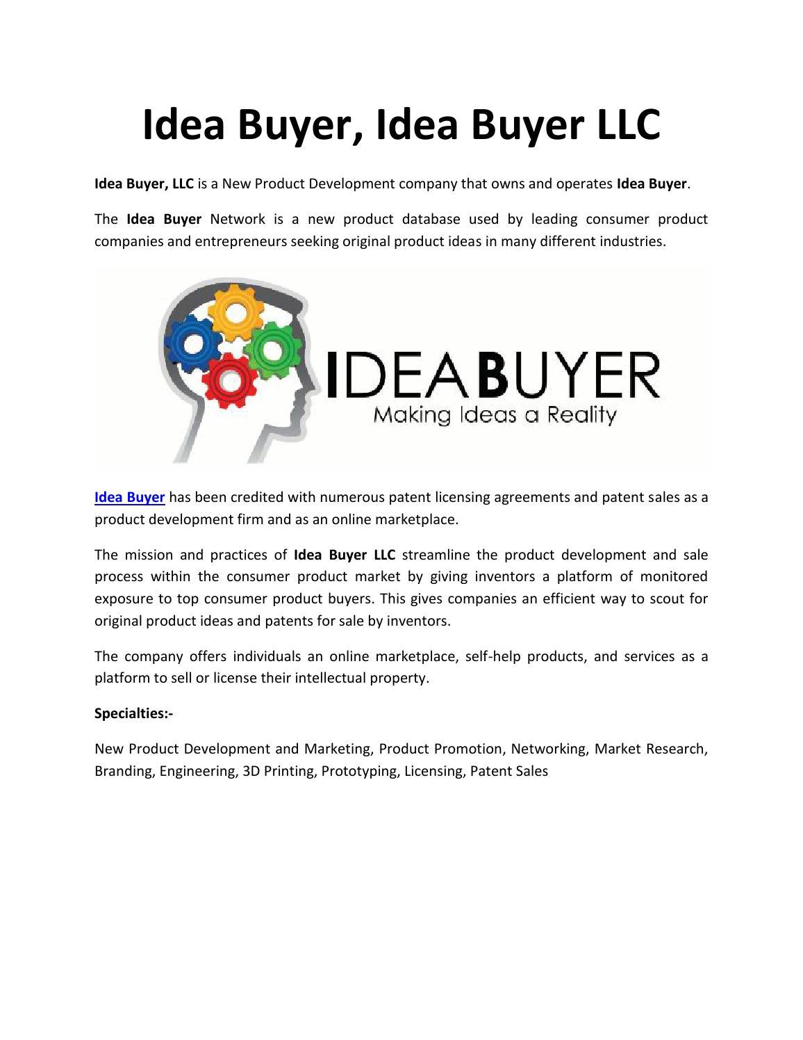 ideabuyer by idea buyer - issuu