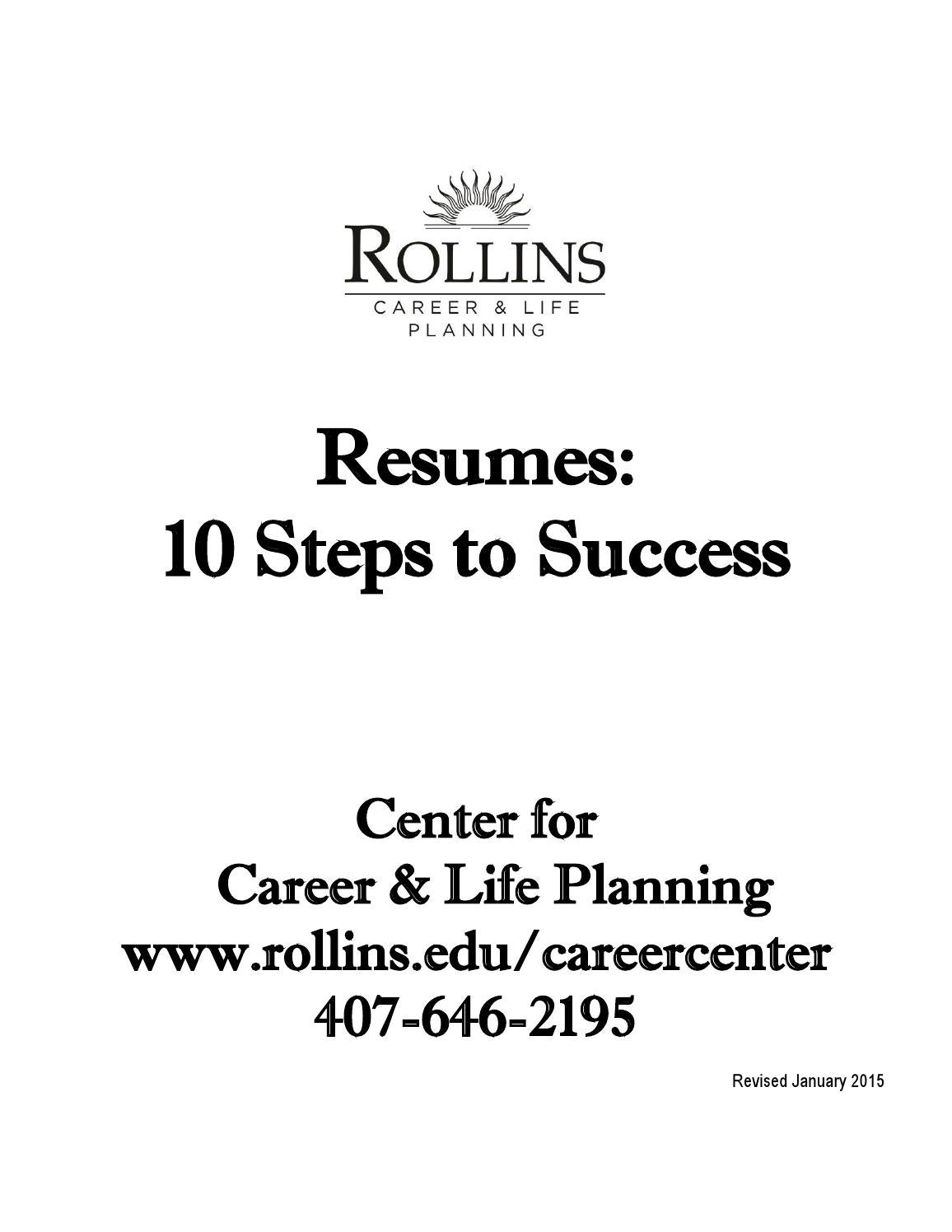 resume packet by rollins college