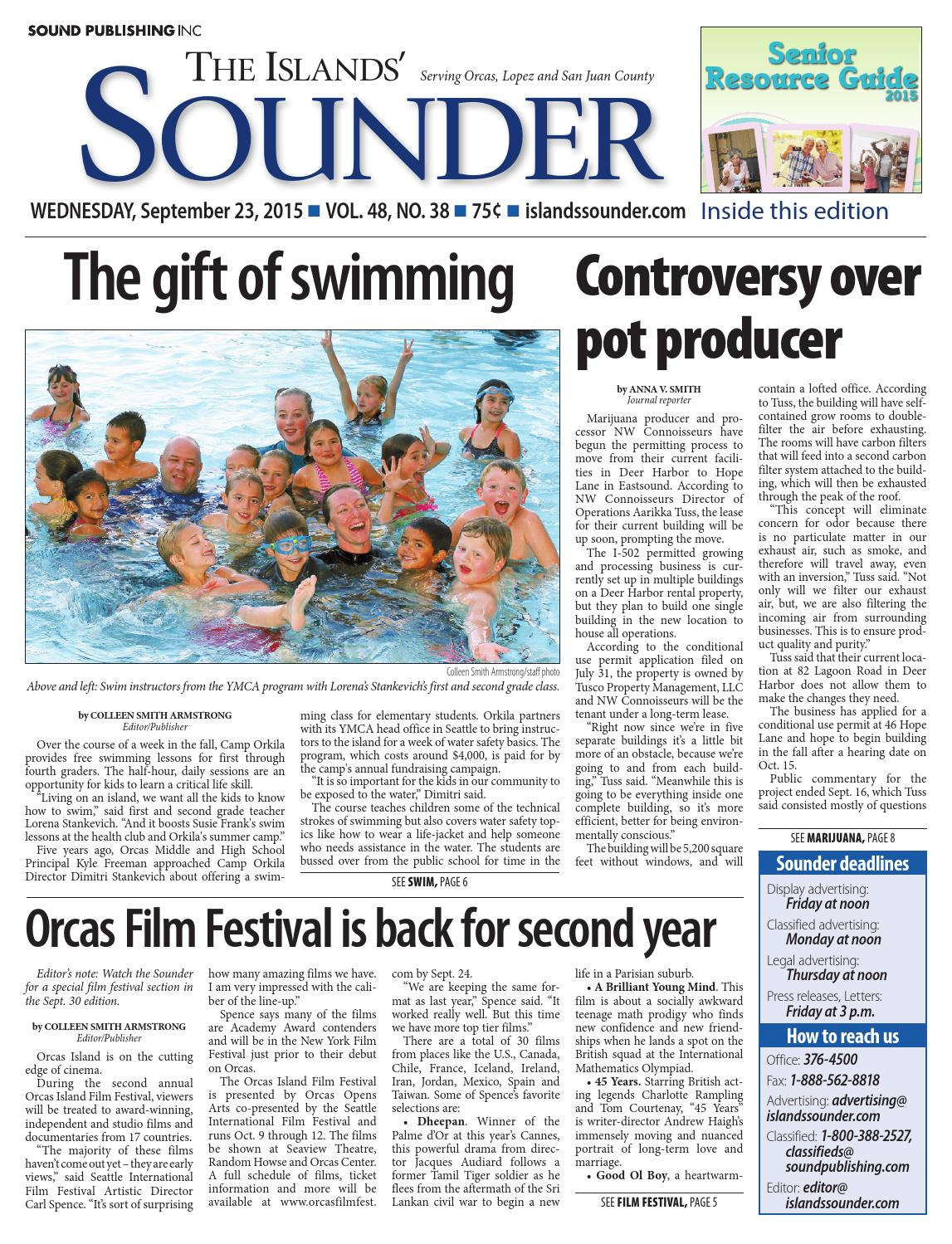 Islands' Sounder, September 23, 2015 by Sound Publishing - issuu
