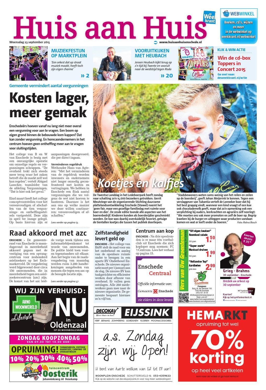 huis aan huis week39 by wegener issuu