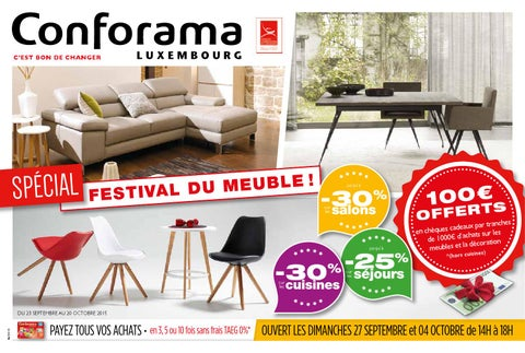 doc 06 sp cial festival du meuble by conforama luxembourg issuu. Black Bedroom Furniture Sets. Home Design Ideas