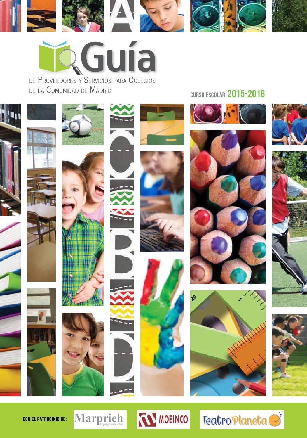 Guia de proveedores y servicios para colegios de la Comunidad de Madrid.  2015 16 by Grupo Paidearte - issuu 3001eeeb3757c