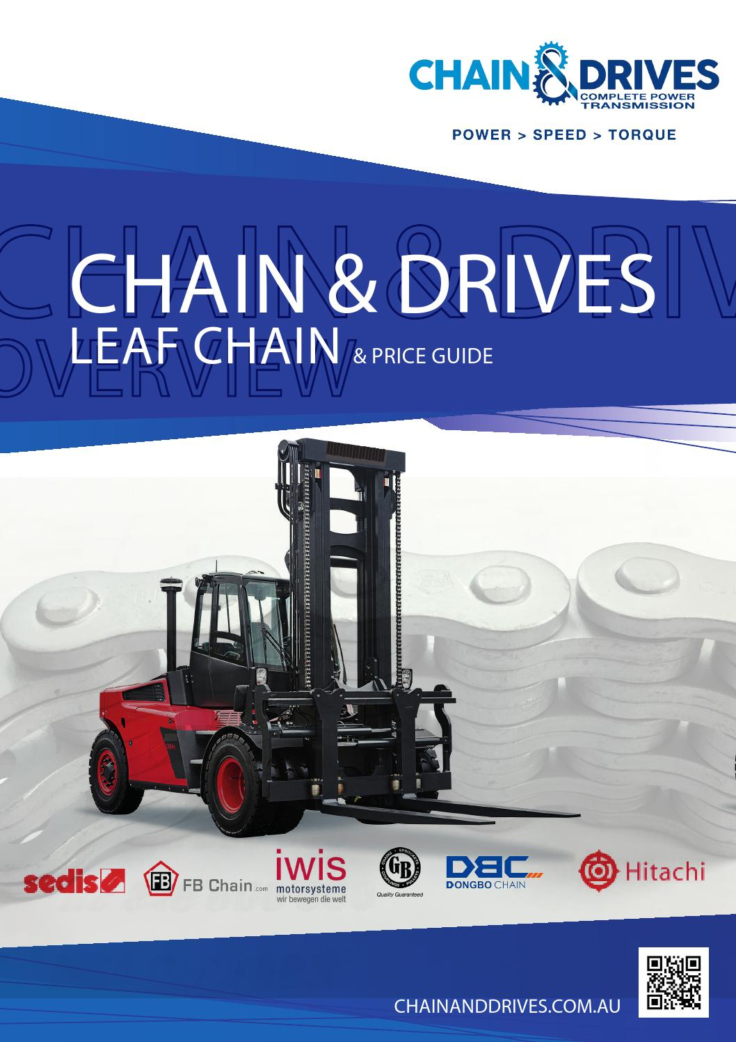 BL666 Leaf Chain 10 Feet For Forklift Masts,Hoisting with 1 Connecting Link