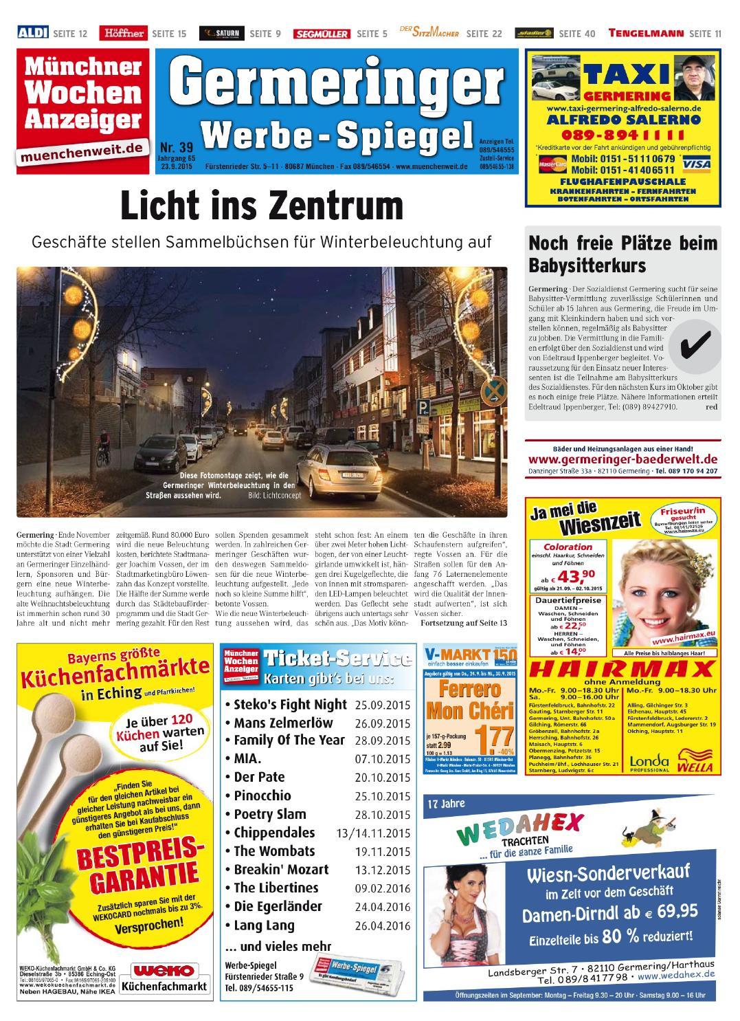 Kw 39 2015 by wochenanzeiger medien gmbh issuu for Spiegel epaper