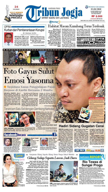 Tribunjogja 22 09 2015 By Tribun Jogja Issuu Herman Vincent Womenamp039s Briefcase Merah