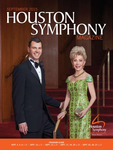 Houston Symphony Magazine September 2015 By Houston Symphony Issuu