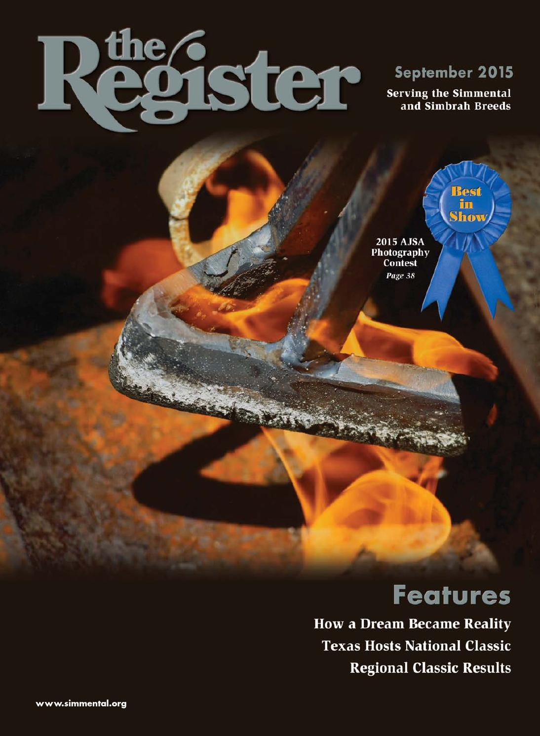 the register september 2015 by american simmental publication