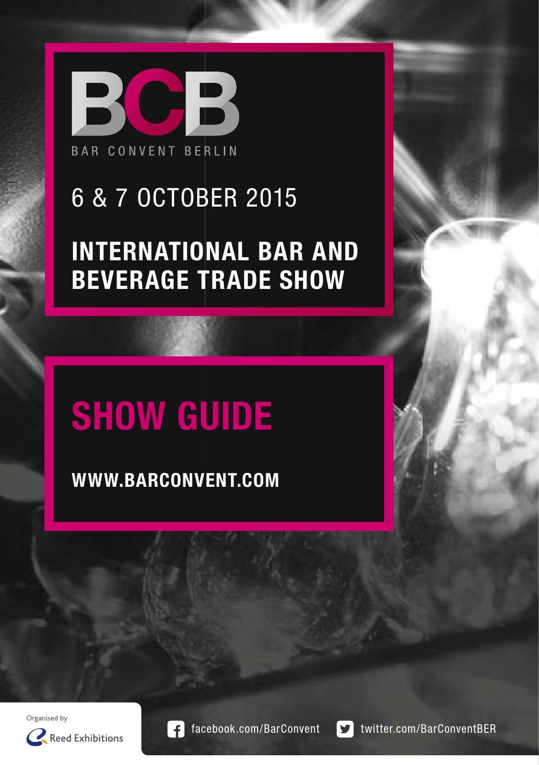 Bar Convent Berlin 2015 // Show Guide // Programmheft by Bar Convent ...