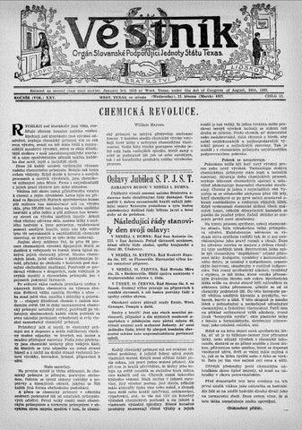 9fb58ac242d ... Texas, under the Act of Congress of August, 24th, 1922. (..iiiSLO 13.  WEST, TEXAS. y e stredu (Wcanesday), 31. biezna (March) 1937. RdeNiK (VOL.)  XXV.