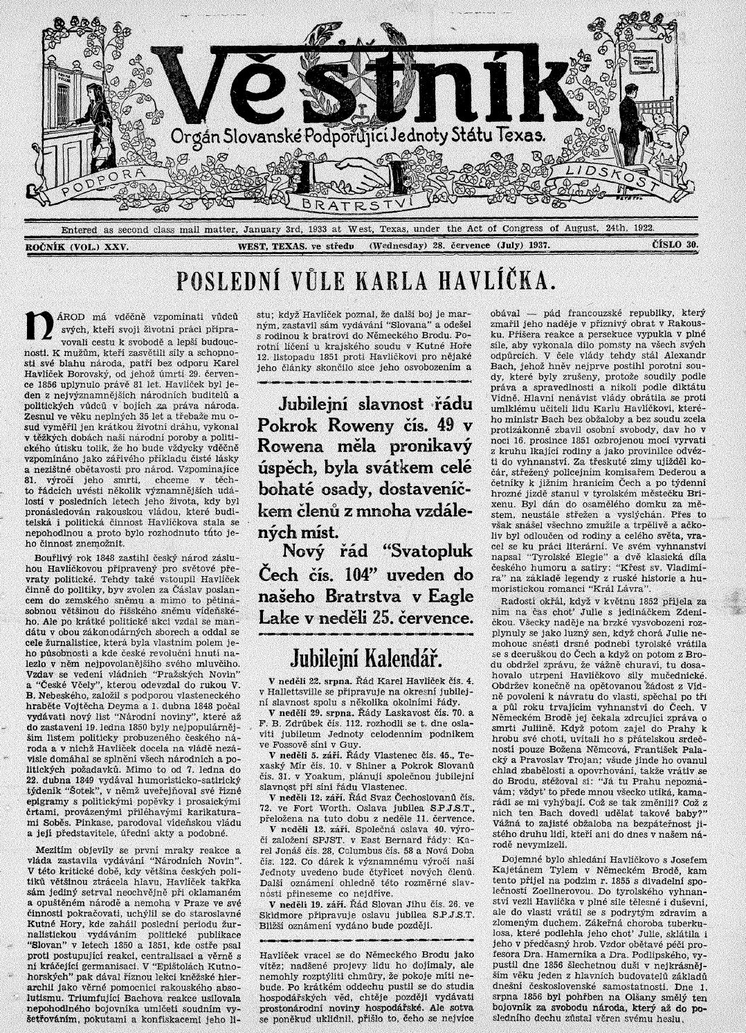 Vestnik 1937 07 28 by SPJST - issuu 7117b3a659
