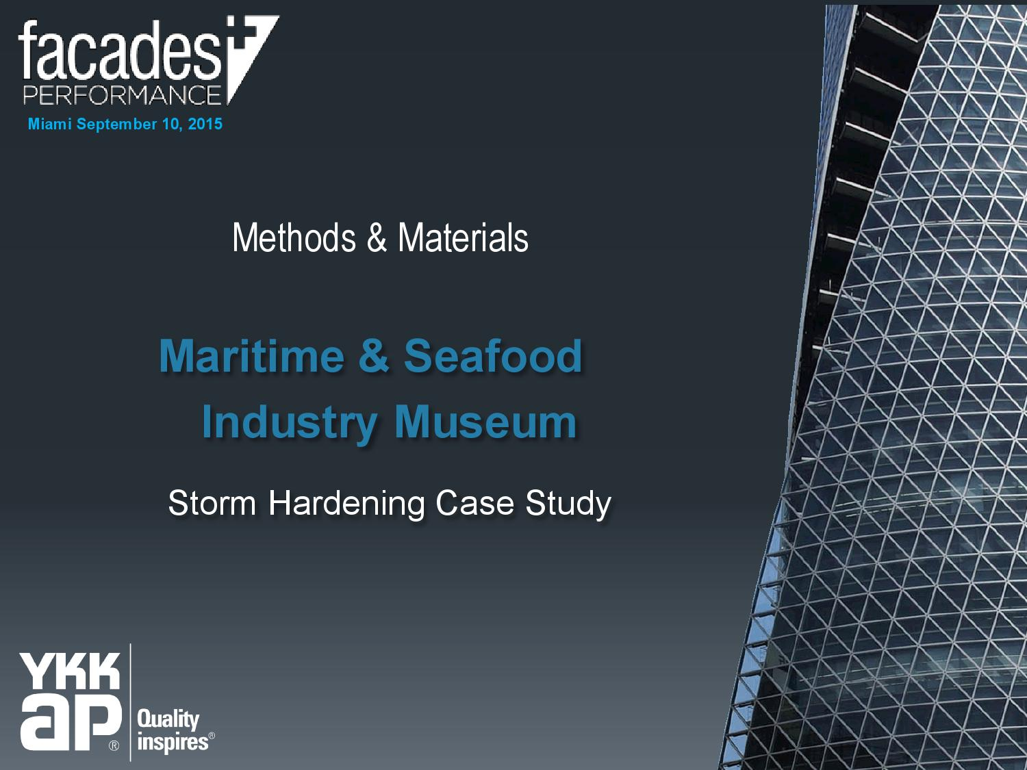 methods and materials panel presentation by the architect