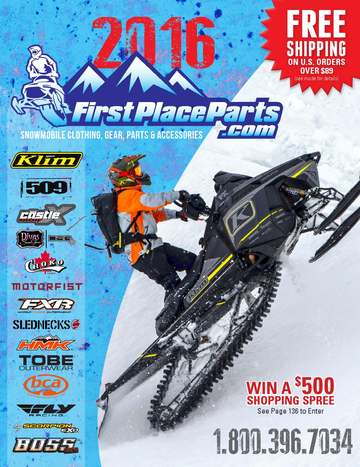 2016 Snowmobile Catalog by First Place