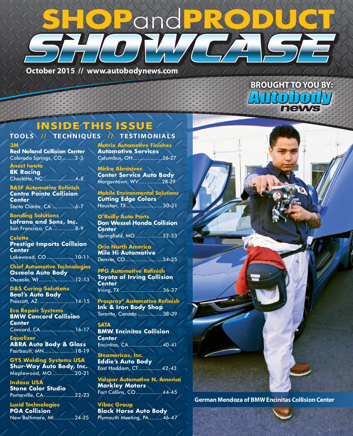 shop and product showcase october 2015 by autobody news