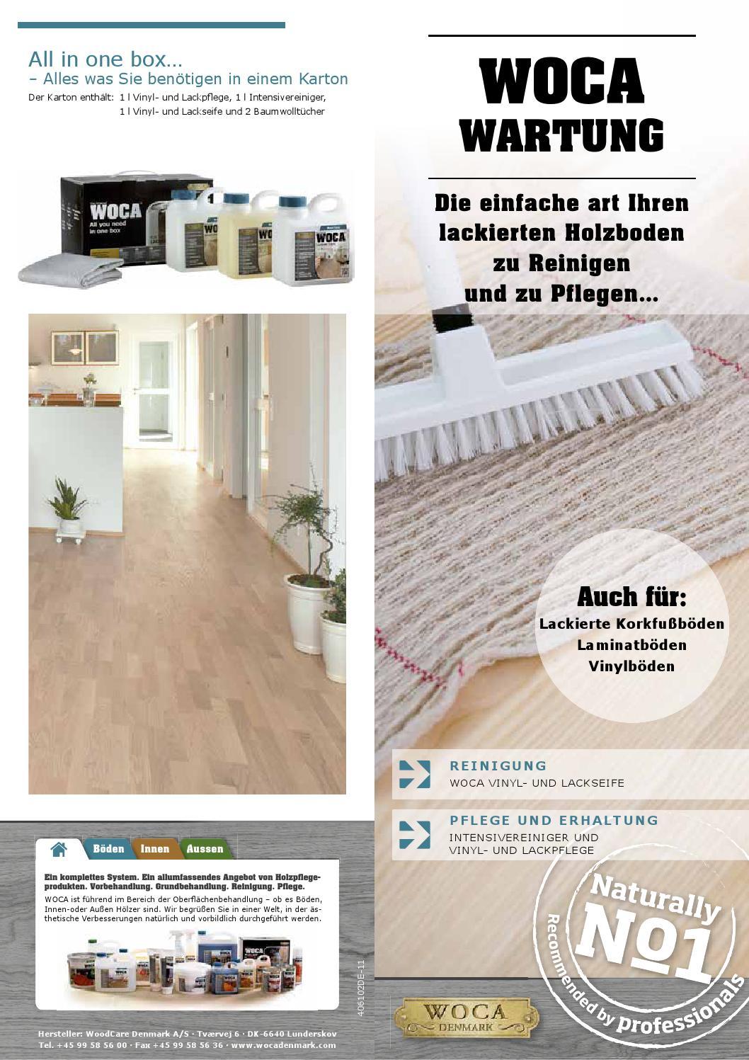 woca wartung laminat vinyl und lack by nordholz issuu. Black Bedroom Furniture Sets. Home Design Ideas
