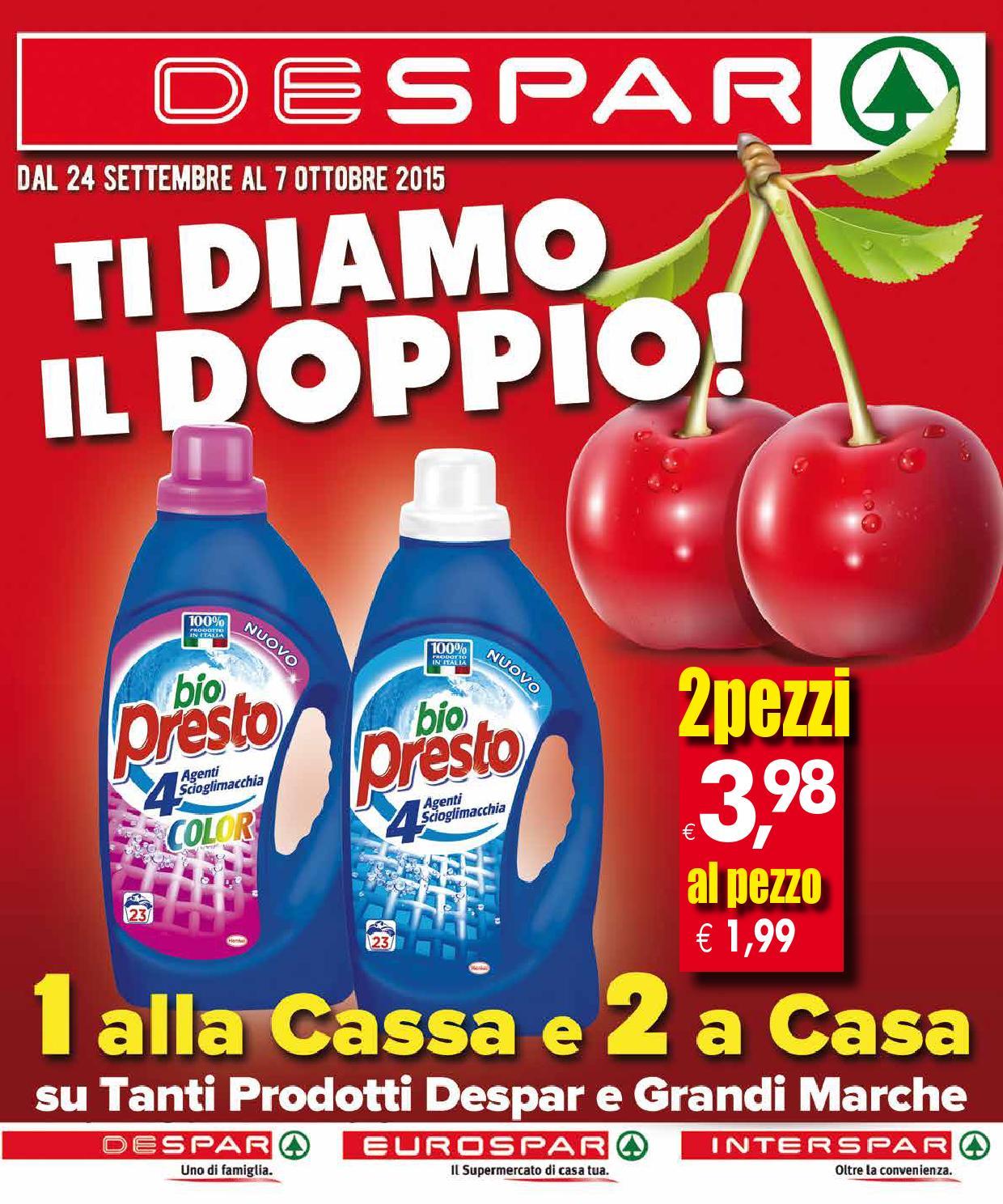 Volantino despar 24 settembre 7 ottobre 2015 by despar for Volantino despar messina e provincia