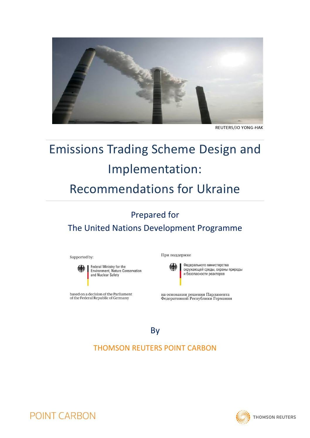 Emissions Trading Scheme design and implementation: Recommendations for  Ukraine