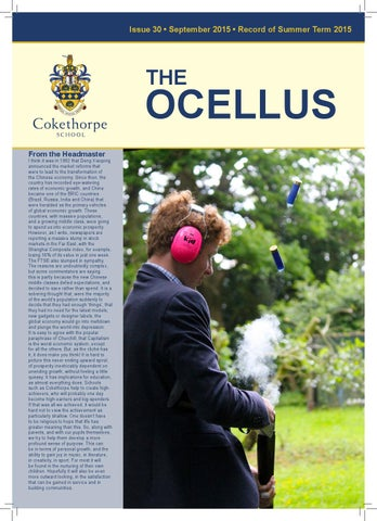 Ocellus Summer Term 2015 By Cokethorpesch Issuu