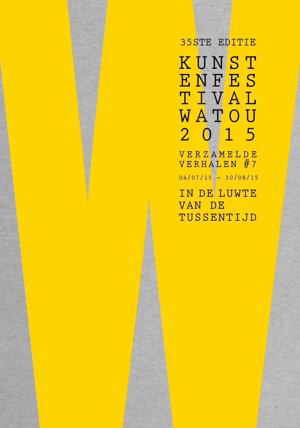 Kunstenfestival Watou 2015 By Vzwkunst Issuu