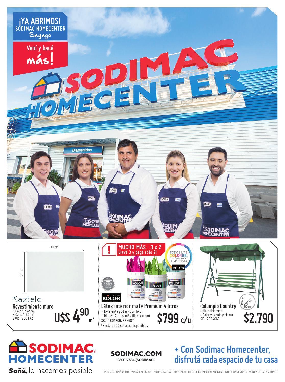 Catalogo sodimac homecenter uy anticipo octubre 2015 by for Sodimac catalogo griferias