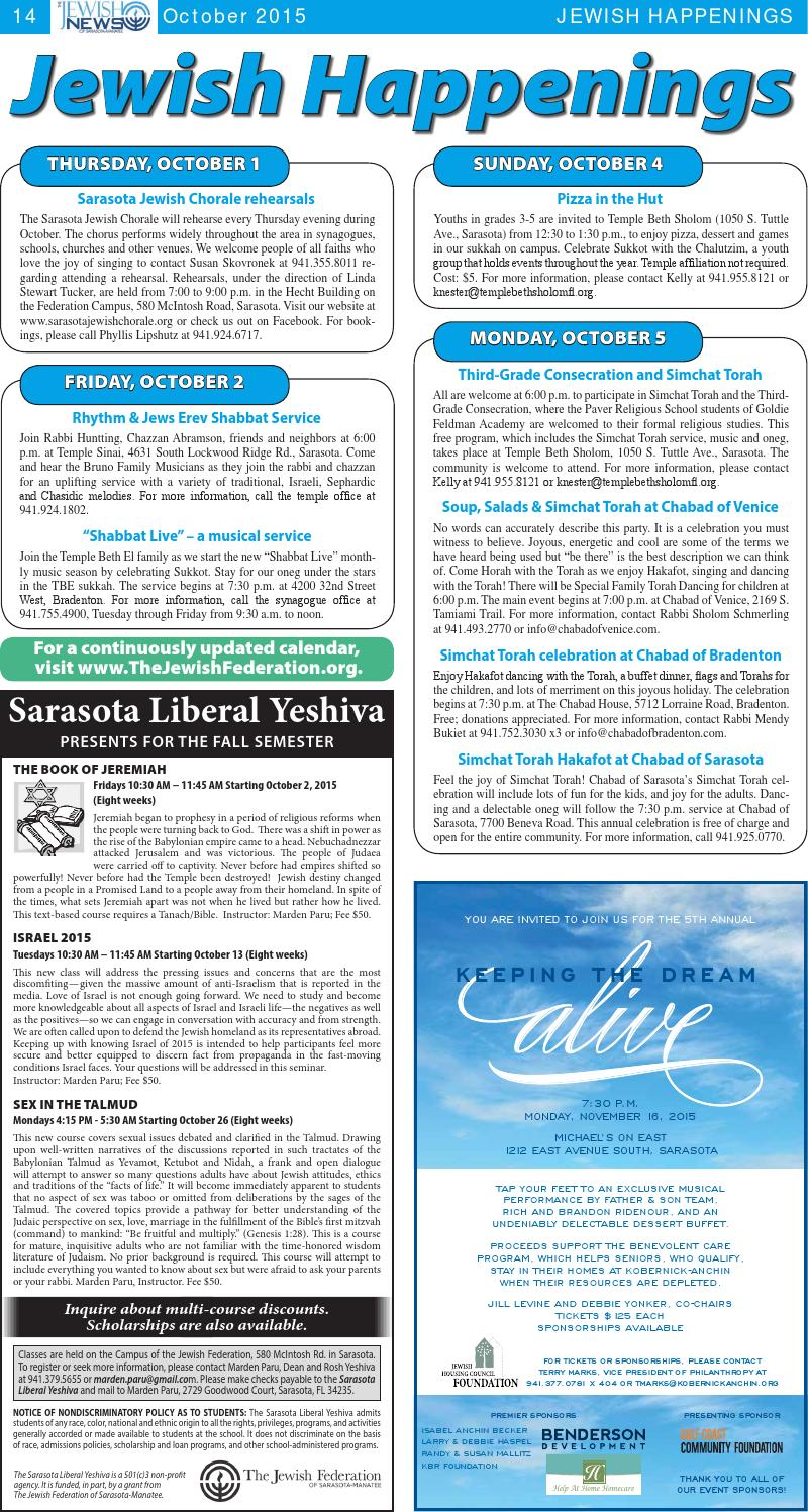 The Jewish News - October 2015 by The Jewish Federation of