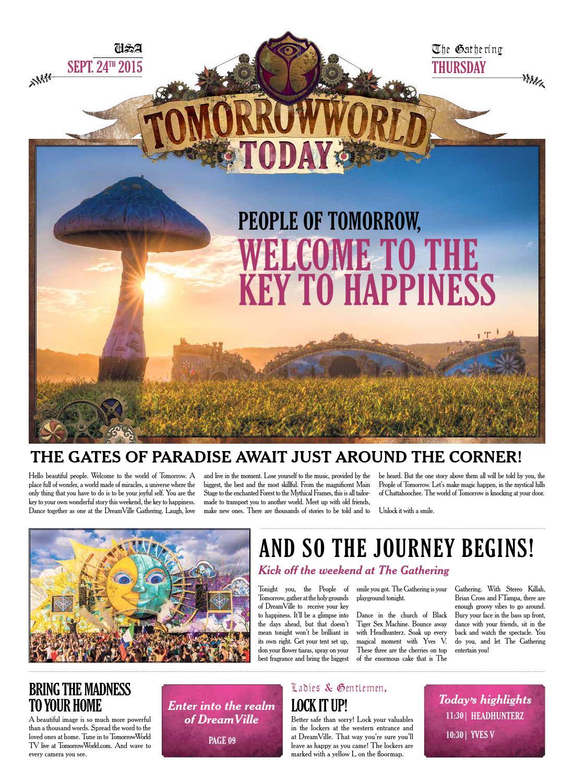 TomorrowWorld Today, September 24th 2015 by Tomorrowland - issuu