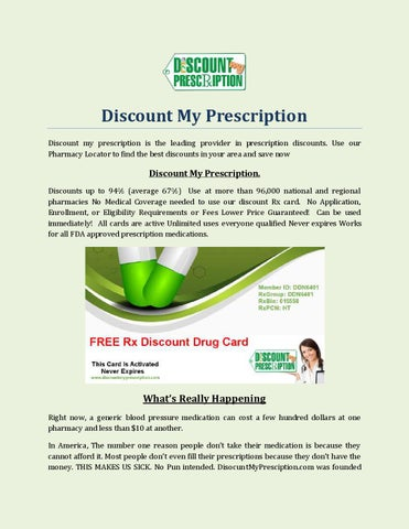 discount my prescription discount my prescription is the leading provider in prescription discounts use our pharmacy locator to find the best discounts in - Best Prescription Discount Card