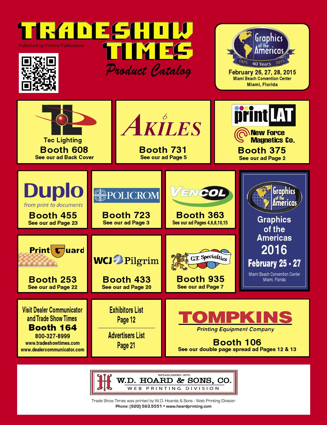 Trade Show Times Graphics of the Americas 2015 by Fichera