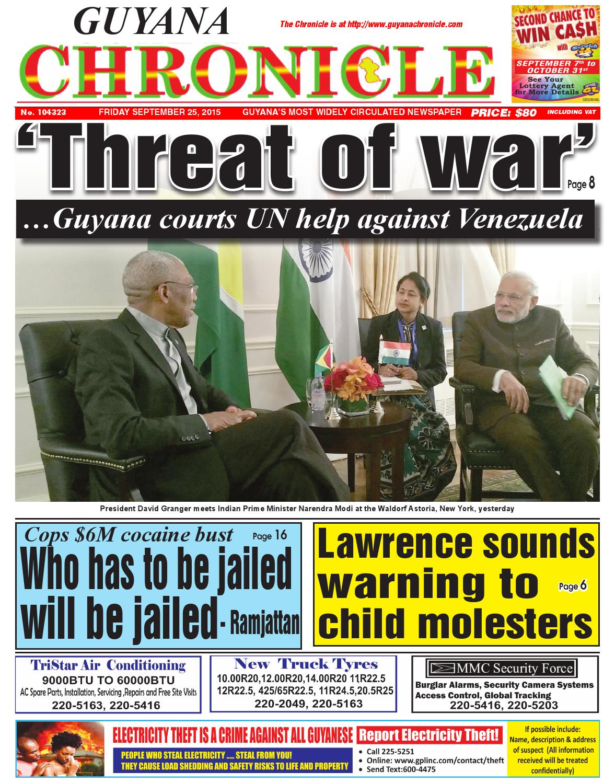 Guyana chronicle 9 25 ...