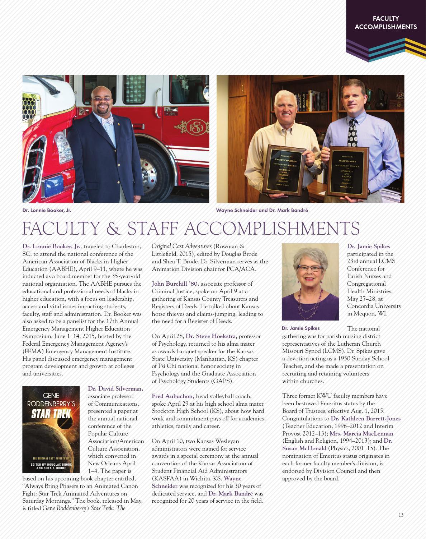 KWU Contact Magazine Fall 2015 by Kansas Wesleyan University