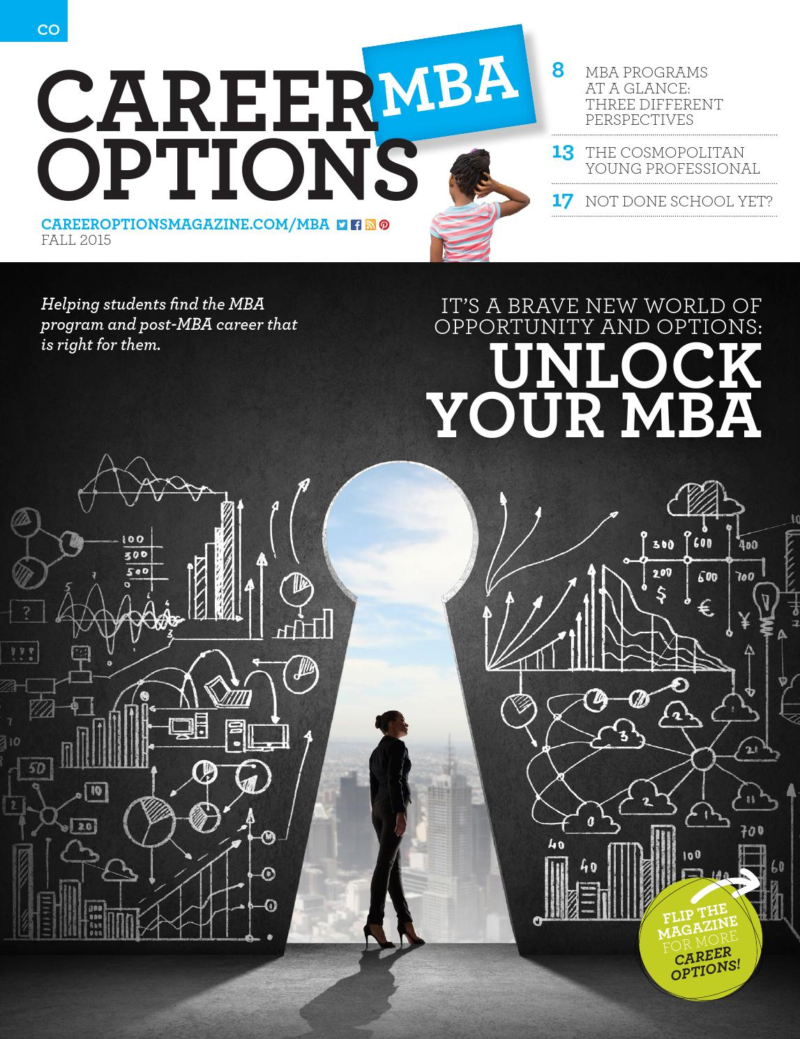career options magazine magazines career options mba fall 2015