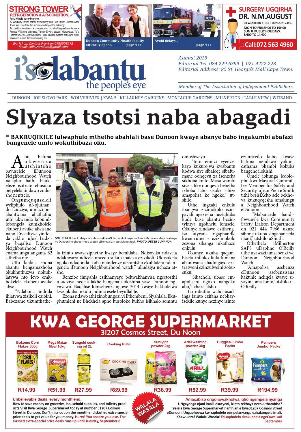 Isolabantu aug 2015 by Isolabantu, the people's eye News - issuu