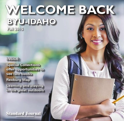 Welcome Back BYU-Idaho Fall 2015 by Standard Journal - issuu