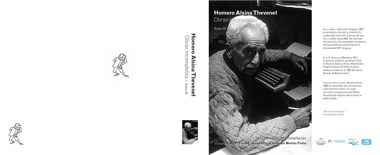 Homero Alsina Thevenet Obras incompletas • Tomo III - 1° parte by ...