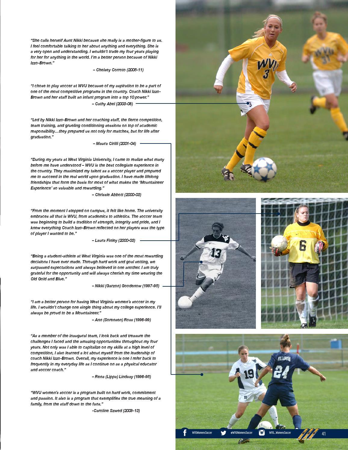 545bade695b 2015 WVU Women's Soccer Guide by Joe Swan - issuu