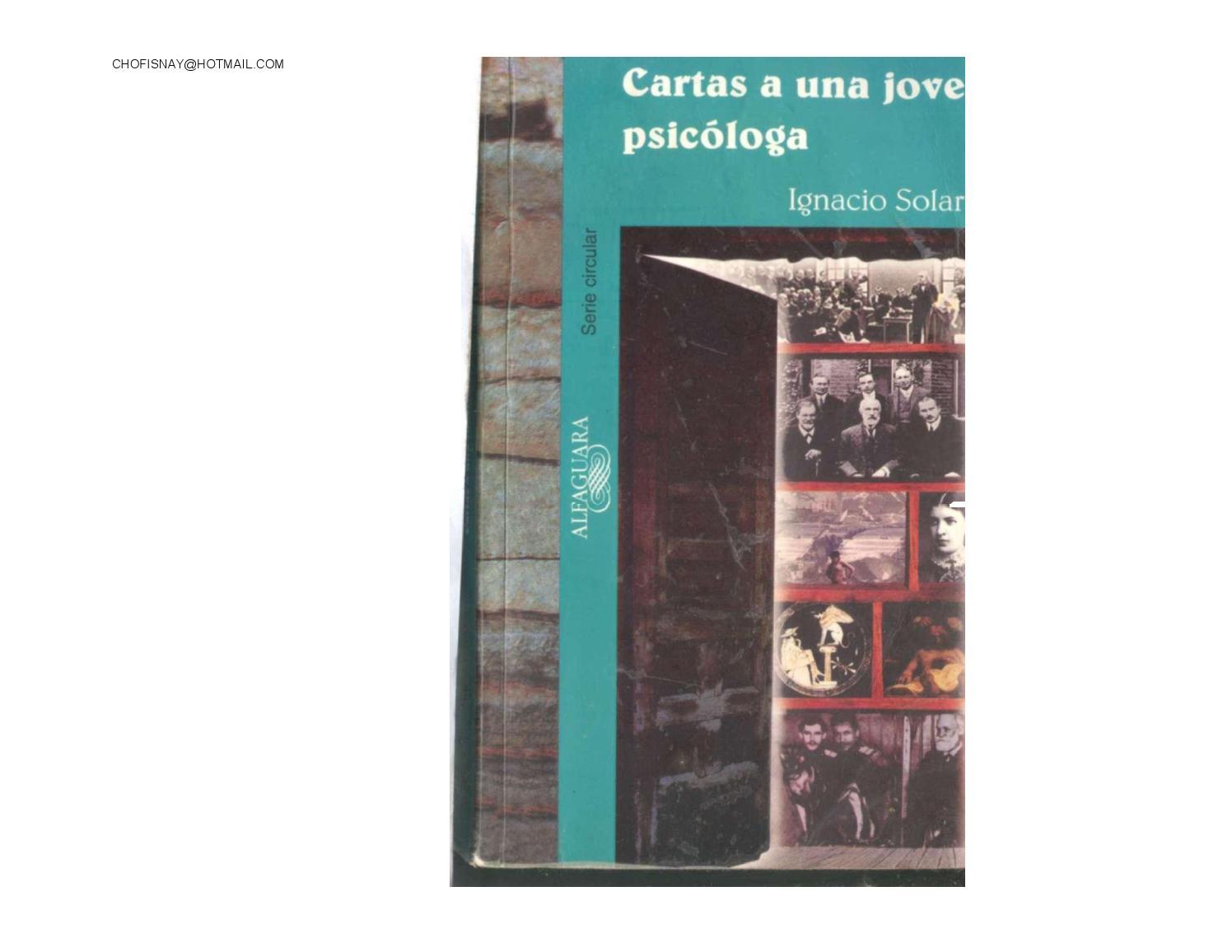Cartas A Una Joven Psicologa Ignacio Solares By Ises Ixtlahuaca  # Muebles Sion Ixtlahuaca