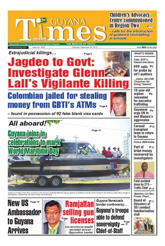 Guyana Times Daily - September 26, 2015 by Gytimes - issuu