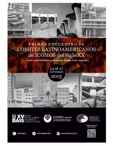 Primer Encuentro de Comités Latinoamericanos de ICOMOS del Siglo XX ... 6000aafae77