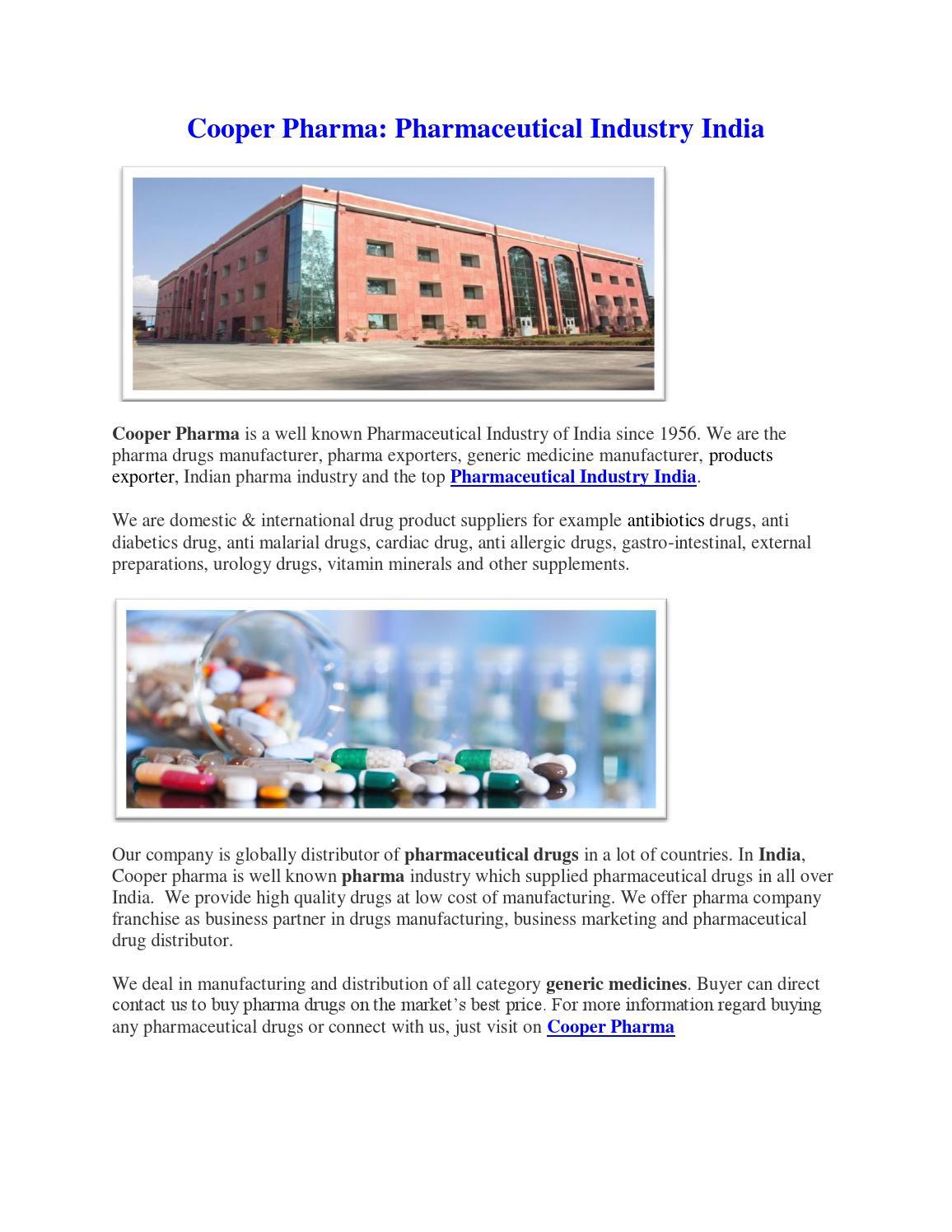 Cooper pharma pharmaceutical industry india
