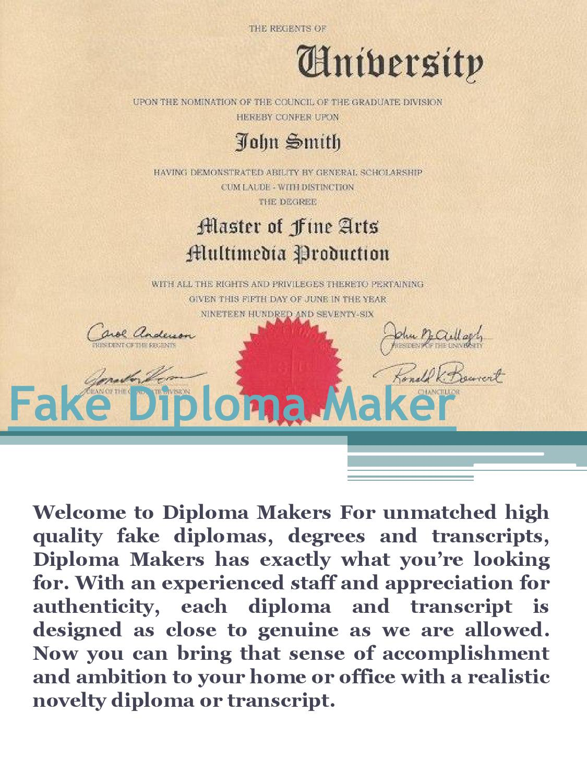 Fake Diploma Maker By Fake Diplomas Issuu