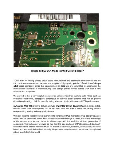 Where to buy usa made printed circuit boards by Rachel Smith - issuu
