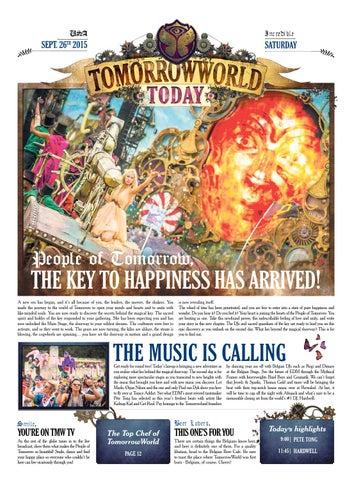 TomorrowWorld Today, September 26th 2015