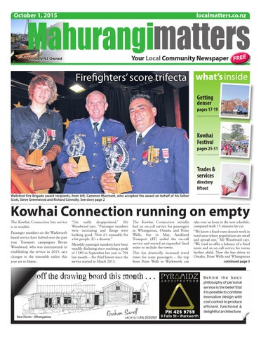 Mahurangi matters 1 october 2015 by localmatters issuu page 1 fandeluxe Gallery