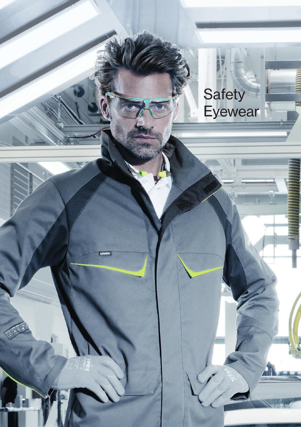 Uvex Pheos Amber Lens Permanent Anti Scratch Mist Fog UV Safety Glasses Specs
