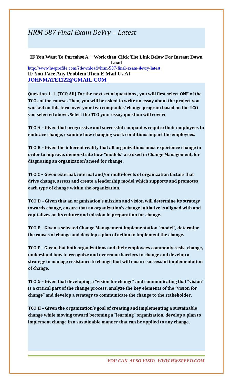 Hrm 587 final exam devry – latest by mahishbut - issuu