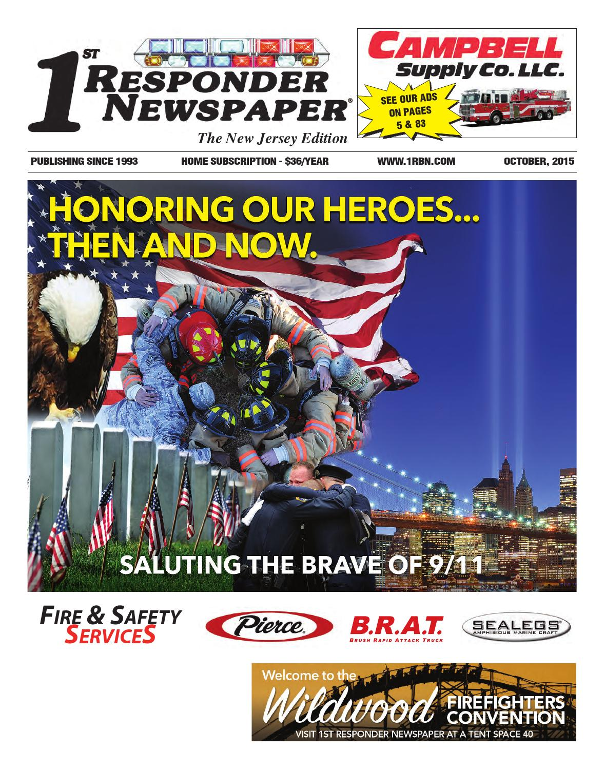 1st Responder New Jersey October Edition by Belsito