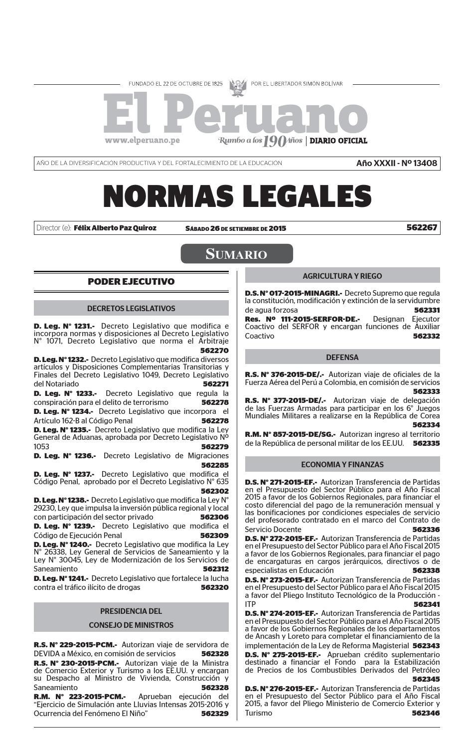 BOLETIN DEL DIARIO OFICIAL 26 09 2015 by Gaceta Juridica - issuu