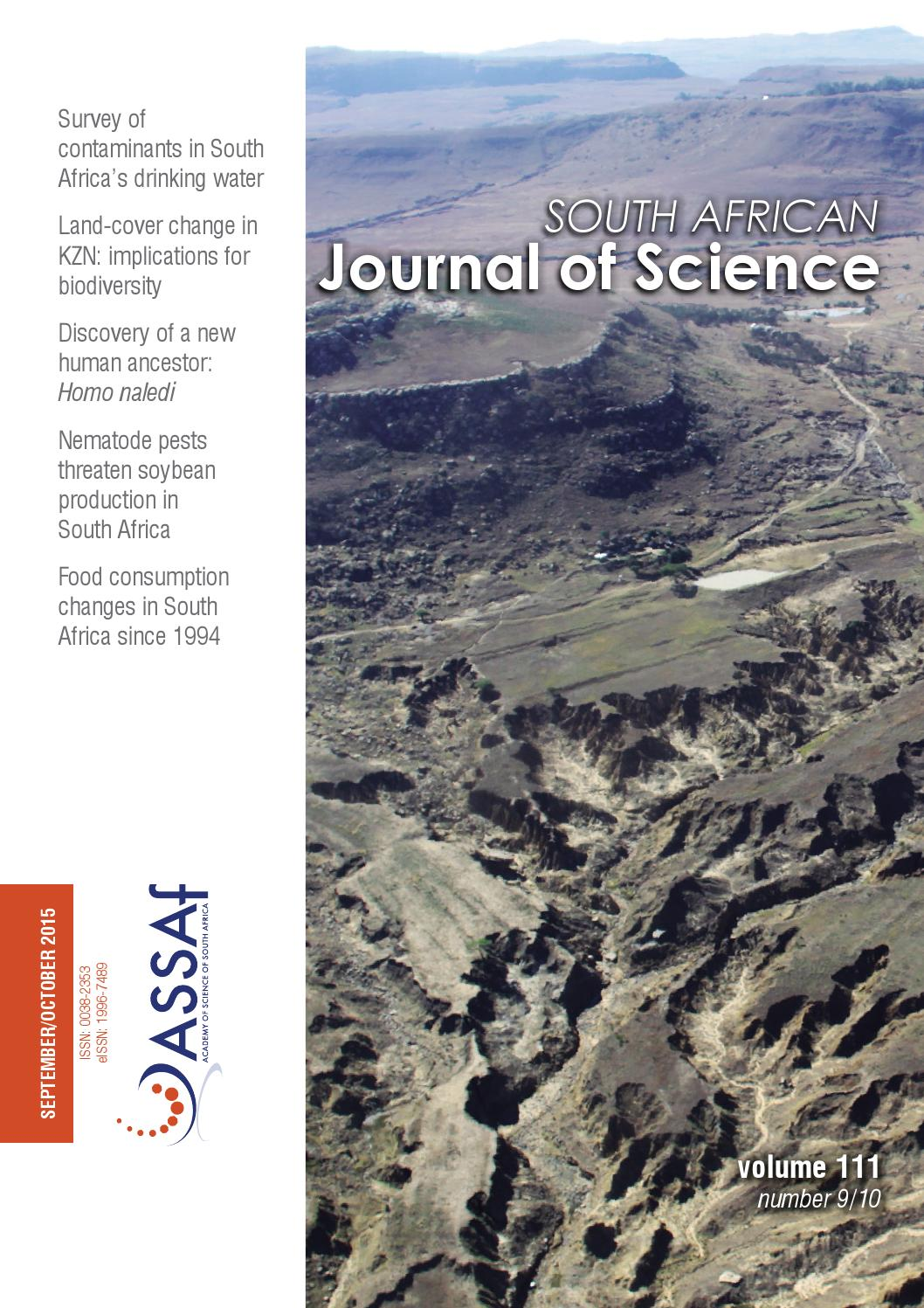 4870e2801cd South African Journal of Science Volume 111 Issue 9/10 by South African  Journal of Science - issuu