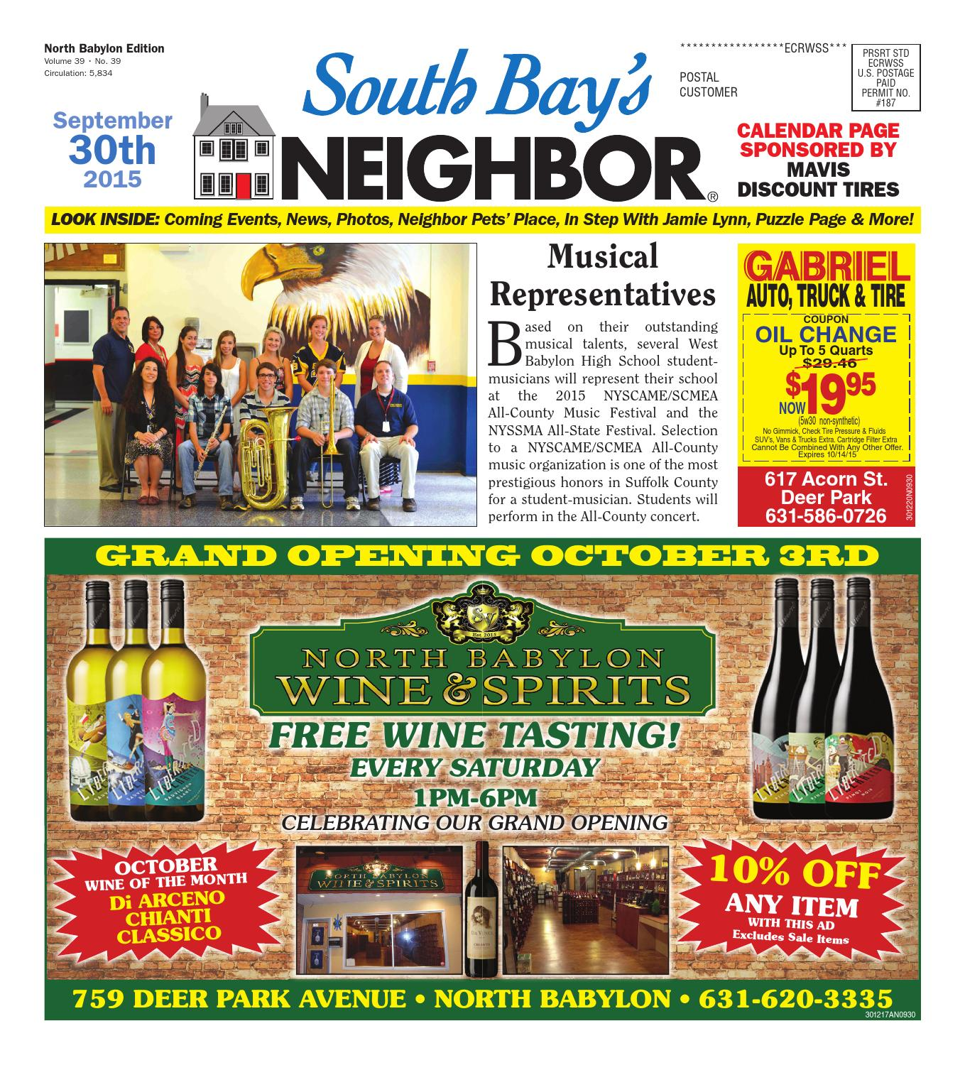 September 30 2015 North Babylon By South Bay S Neighbor Newspapers