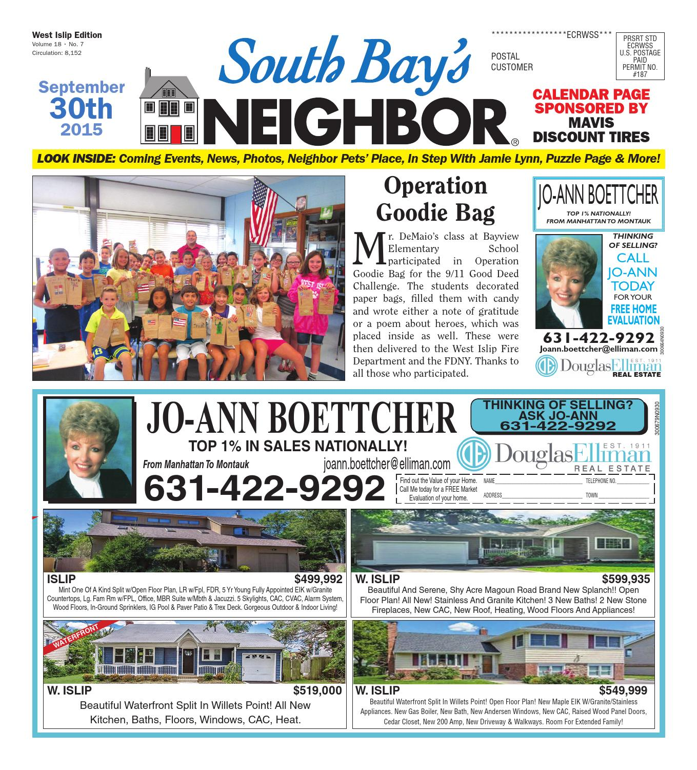 September 30 2015 West Islip by South Bay s Neighbor Newspapers issuu