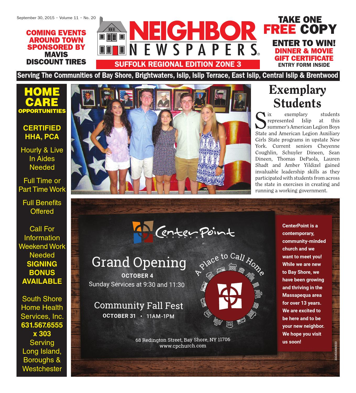September 30 2015 Suffolk Zone 3 by South Bay s Neighbor Newspapers